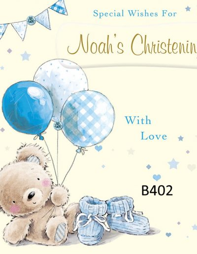 Baby Boy Personalised Congratulations Greeting Card - for Births, Baptisms, Chistenening Events